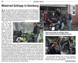 Motorradtechnik Schlupp im Kradblatt, 12/2013, Seite 52